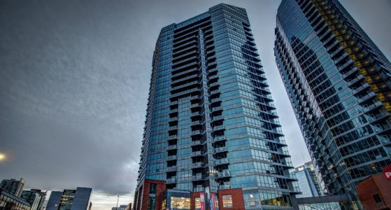 Exterior-Highrise-Keynote-Luxury-Condo-Tower-Calgary-Downtown-Real-Estate