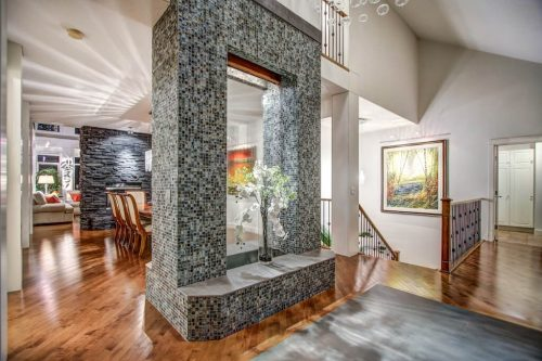 Waterfall-feature-water-40-Wentwillow-lane-SW-west-springs-real-estate-for-sale-plintz-Realtor-calgary-sothebys-Luxury