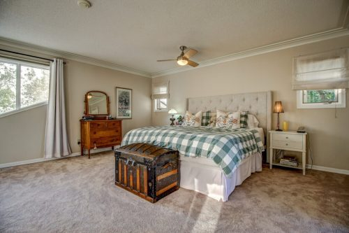 Master bedroom with chest