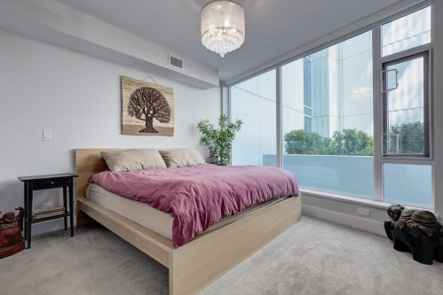 Master-bedroom-downtown-views-evolution-Realtor-210-510-6-Avenue-SE-east-village-calgary-real-estate-for-sale-condo-plintz-sothebys