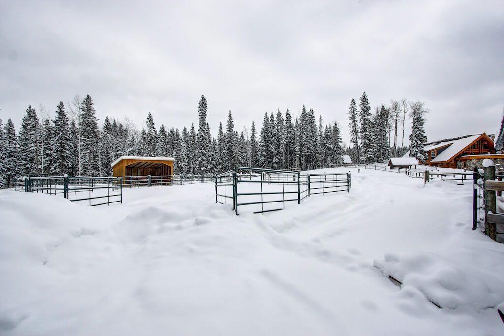 Winter-horse-pen-cattle-corral-352248-Pine-Ridge-Road-Bragg-Creek-Ranch-Acreage-For-Sale-Calgary-Real-Estate-For-Sale-taylor-sothebys-Realtor-Plintz
