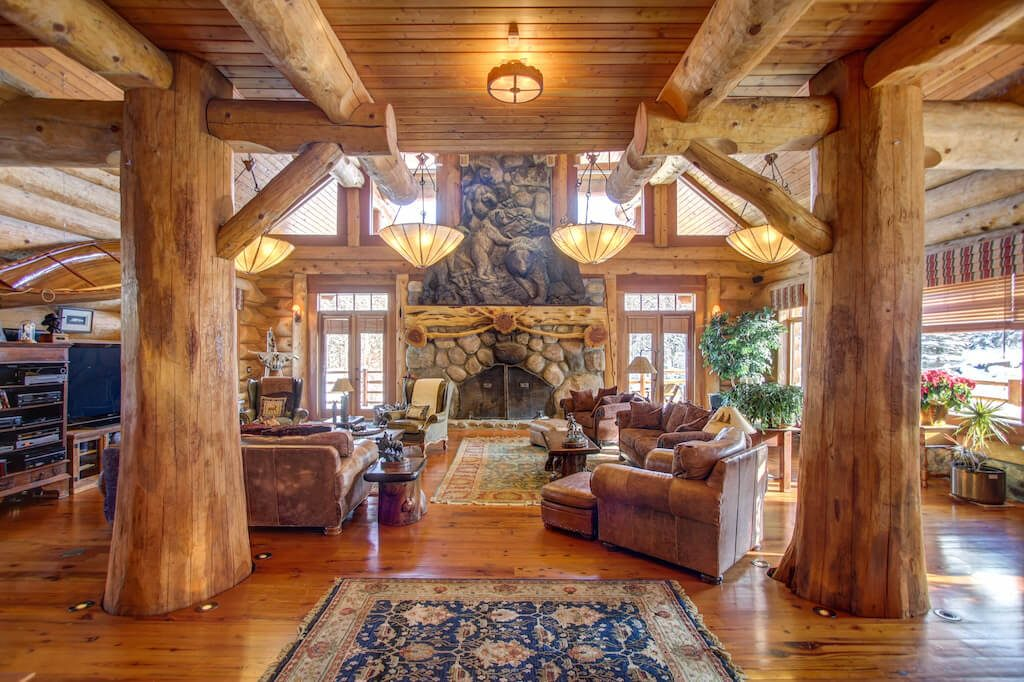 Timber-log-great-room-352248-Pine-Ridge-Road-Bragg-Creek-Ranch-Acreage-For-Sale-Calgary-Real-Estate-For-Sale-taylor-sothebys-Realtor-Plintz