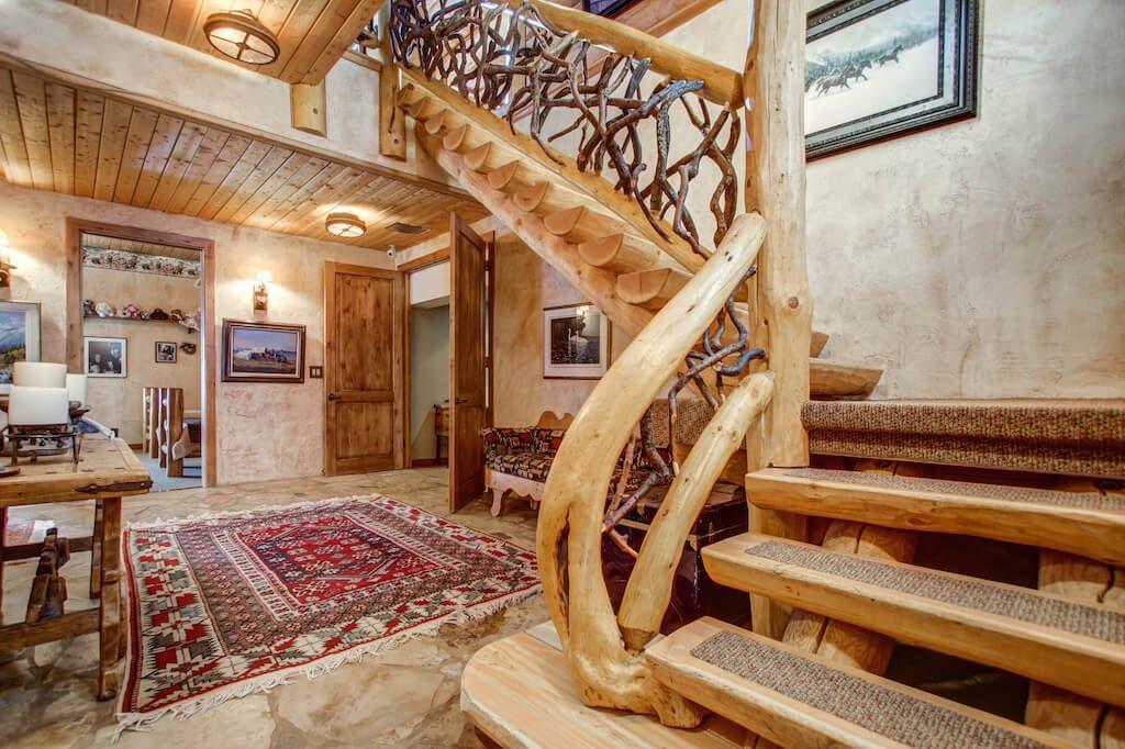 Log-staircase-352248-Pine-Ridge-Road-Bragg-Creek-Ranch-Acreage-For-Sale-Calgary-Real-Estate-For-Sale-taylor-sothebys-Realtor-Plintz