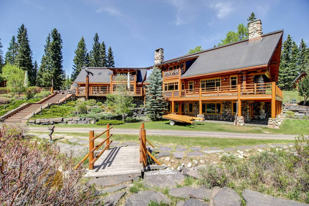 Timber-frame-log-realtor-352248-Pine-Ridge-Road-Bragg-Creek-Ranch-Acreage-For-Sale-Calgary-Real-Estate-For-Sale-taylor-sothebys-pond