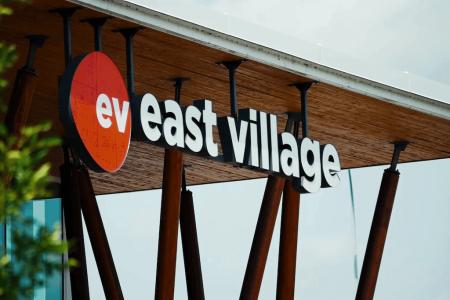 Downtown-core-east-village-victoria-park-calgary-real-estate-ev-sign-community-info-centre