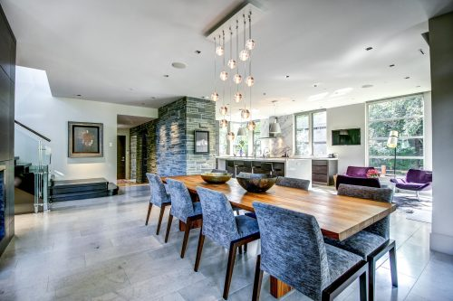 dining-table-pendant-chandelier-stone-accent-2605-Erlton-Street-SW-Calgary-Real-Estate-Homes-For-Sale-Realtor-Plintz-Luxury-Custom