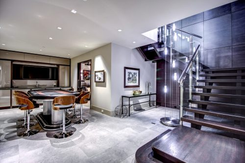 poker-table-basement-modern-home-design-open-stringer-stairs-2605-Erlton-Street-SW-Calgary-Real-Estate-Homes-For-Sale-Realtor-Plintz-Luxury-Custom