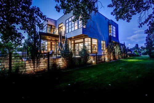 twilight-night-architectural-photography-modern-architecture-mansion-2605-Erlton-Street-SW-Calgary-Real-Estate-Homes-For-Sale-Realtor-Plintz-Luxury-Custom