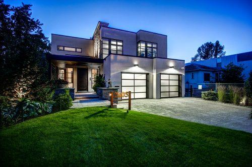twilight-architectural-photography-modern-design-mansion-2605-Erlton-Street-SW-Calgary-Real-Estate-Homes-For-Sale-Realtor-Plintz-Luxury-Custom