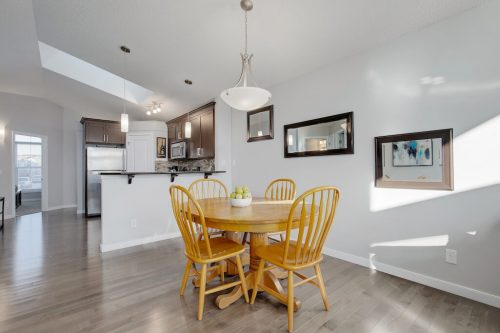 Open-layout-dining-kitchen-43-Cranford-Close-SE-Calgary-Cranston-Real-Estate-Homes-For-Sale-Plintz-Realtor