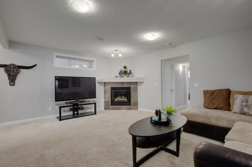 family-room-fireplace-43-Cranford-Close-SE-Calgary-Cranston-Real-Estate-Homes-For-Sale-Plintz-Realtor