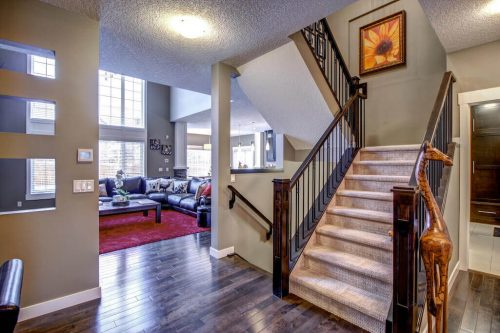 staircase-14-Aspen-Dale-Court-SW-Home-For-Sale-Plintz-Real-Estate-Calgary-Woods-Luxury-Alberta-Realtor