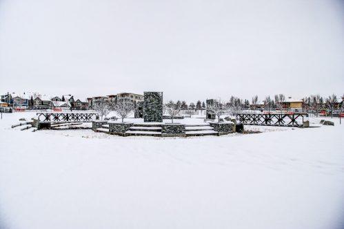 Snow-park-landscape-beautiful-Valour-Circle-SW-Park-Empire-Custom-Homes-Townhome-Luxury-Plintz-Real-Estate-For-Sale-Calgary-currie-barracks