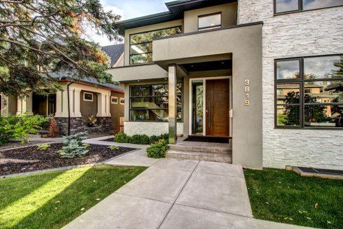 front-entrance-door-3819-12-Street-SW-Elbow-Park-Luxury-Real-Estate-Home-For-Sale-Calgary-Plintz-Realtor