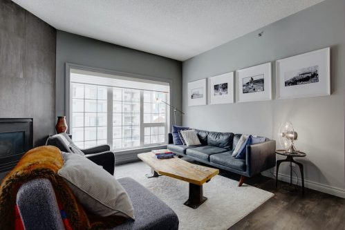 living-room-windows-503-820-15-Avenue-SW-Calgary-Condo-Newbury-Beltline-Mount-Royal-Penthouse-For-Sale-Plintz-Real-Estate