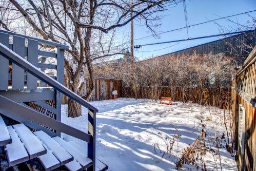 fenced-backyard-winter-landscaping-2503-16-Street-SW-Bankview-Calgary-Real-Estate-Homes-For-Sale-Plintz-Realtor-Dennis-Inner-City