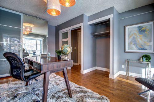 grey-office-hardwood-floors-2503-16-Street-SW-Bankview-Calgary-Real-Estate-Homes-For-Sale-Plintz-Realtor-Dennis-Inner-City
