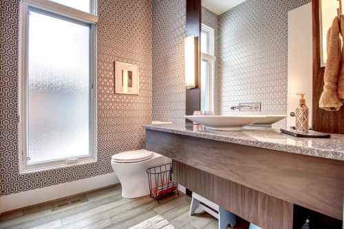 Powder-room-wall-paper-modern-3819-12-Street-SW-Elbow-Park-Luxury-Real-Estate-Home-For-Sale-Calgary-Plintz-Realtor