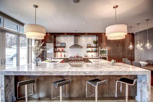 marble-breakfast-bar-island-3819-12-Street-SW-Elbow-Park-Luxury-Real-Estate-Home-For-Sale-Calgary-Plintz-Realtor
