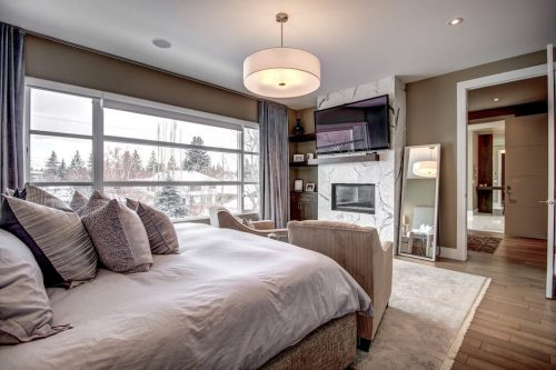 master-suite-fireplace-3819-12-Street-SW-Elbow-Park-Luxury-Real-Estate-Home-For-Sale-Calgary-Plintz-Realtor
