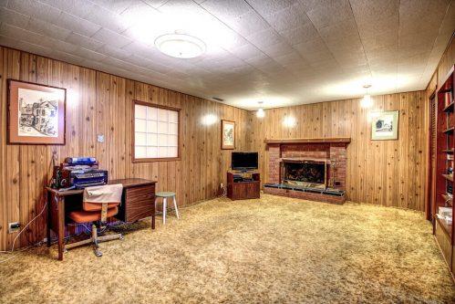 Vintage-retro-wood-panel-basement-515-Willacy-Drive-SE-Willow-Park-Real-Estate-Bungalow-For-Sale-Plintz-Realtor-Dennis-Home