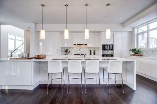 Island-kitchen-white-downsview-8-Victoria-Cross-Boulevard-SW-Empire-Custom-Homes-Townhouse-For-Sale-Plintz-Real-Estate-Calgary-Currie-Barracks-Realtor-Dennis