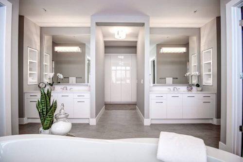 Dual-vanity-white-bathroom-ensuite-8-Victoria-Cross-Boulevard-SW-Empire-Custom-Homes-Townhouse-For-Sale-Plintz-Real-Estate-Calgary-Currie-Barracks-Realtor-Dennis