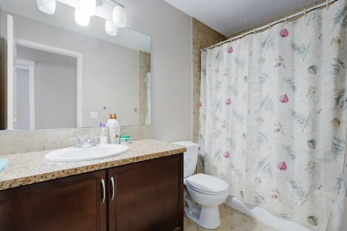 bathroom-dark-vanity-shower-218-Kincora-Glen-Rise-NW-Calgary-Real-Estate-For-Sale-Plintz-Realtor-Realty-Walkout