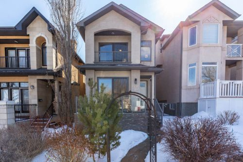 Infill-curb-appeal-arch-balcony-47-28-Avenue-SW-Erlton-Calgary-Home-For-Sale-Plintz-Real-Estate-House-realtor-realty