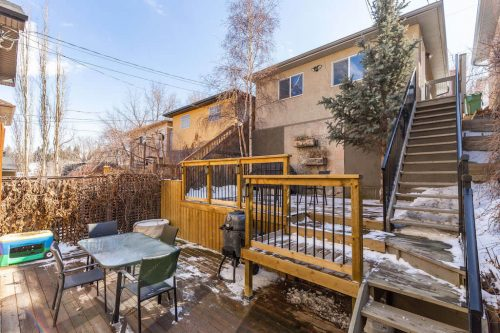 two-tier-backyard-deck-staircase-47-28-Avenue-SW-Erlton-Calgary-Home-For-Sale-Plintz-Real-Estate-House-realtor-realty