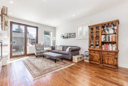 living-room-walnut-floors-3514-42-Street-SW-Glenbrook-Calgary-Home-Real-Estate-for-sale-infill-attached-Plintz