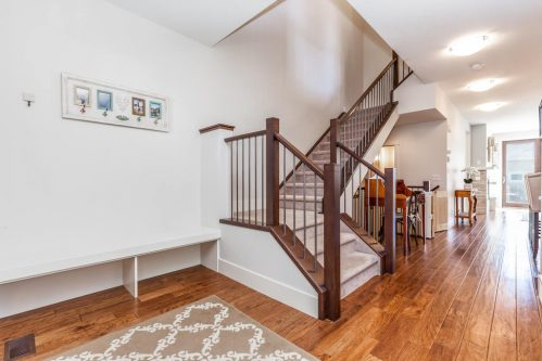 staircase-railing-walnut-hardwood-3514-42-Street-SW-Glenbrook-Calgary-Home-Real-Estate-for-sale-infill-attached-Plintz