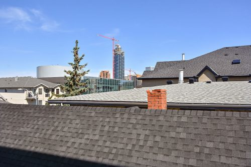 View of downtown from 304 1108 15 Street SW Condo for sale in Sunalta Calgary