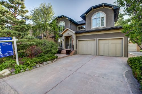 Luxury home with double attached garage at 818 Rideau Park Road SW Calgary for sale by Plintz Real Estate