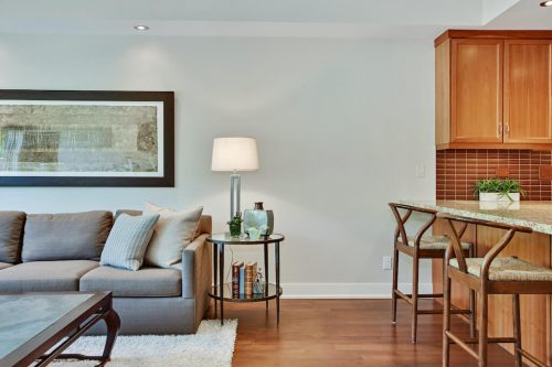 Artistic living dining room Cityscape Executive Condo Eau Claire Calgary Plintz Real Estate For Sale