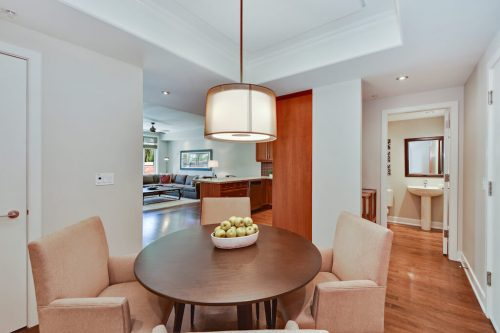 Dining room Cityscape Executive Condo Eau Claire Calgary Plintz Real Estate For Sale