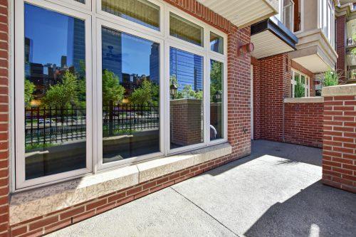 Large patio windows Cityscape Executive Condo Eau Claire Calgary Plintz Real Estate For Sale