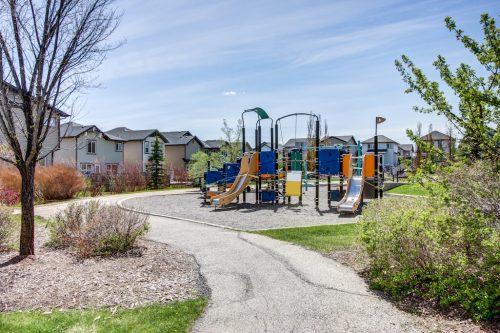Playground park in Kincora NW Calgary