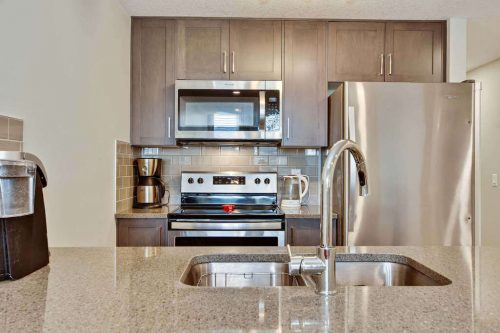 Modern condo kitchen for sale by plintz real estate