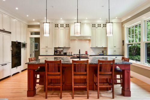 Luxury kitchen island Mount Royal Calgary home for sale Plintz Real Estate