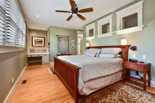 Master bedroom in luxury home for sale in Calgary