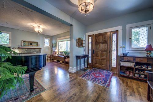 Front entry door and hardwood floors