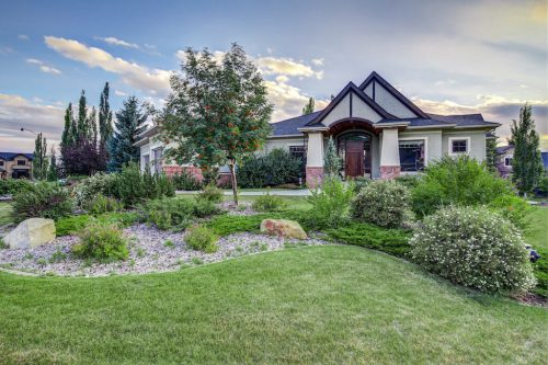 Lush Landscaping at 11 Spring Valley Mews Luxury Home For Sale in Calgary by Plintz Real Estate