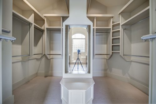 Walk in closet with custom organizer 11 Spring Valley Mews Luxury Home For Sale