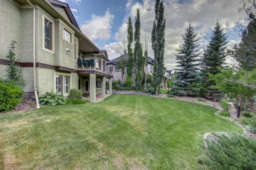 Southwest backyard of walkout bungalow 11 Spring Valley Mews Luxury Home For Sale