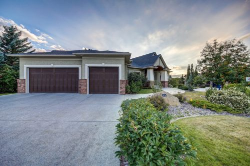 Triple attached garage and large driveway 11 Spring Valley Mews Luxury Home For Sale Springbank Hill