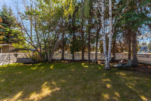 SW side yard of Calgary inner city bungalow for sale.