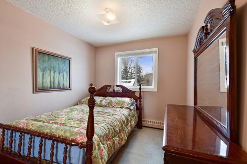Bedroom in two bedroom condo at 102, 2508 17 Street SW in Calgary,