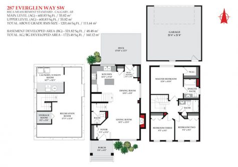 Floor plan of detached Calgary home for sale by Plintz Real Estate.