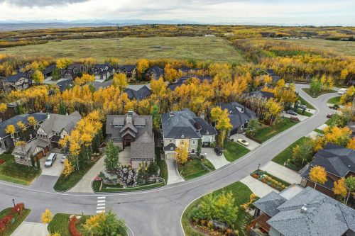 Autun aerial of the Willows of Westworth at West Springs Calgary for sale by Plintz Real Estate